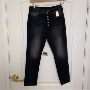 NWT Pilcro High-Rise Button-Fly Skinny Jeans